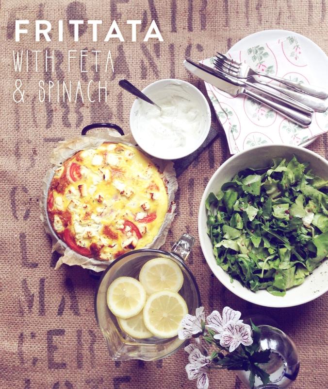 Frittata with Feta & Spinach | by JuYogi