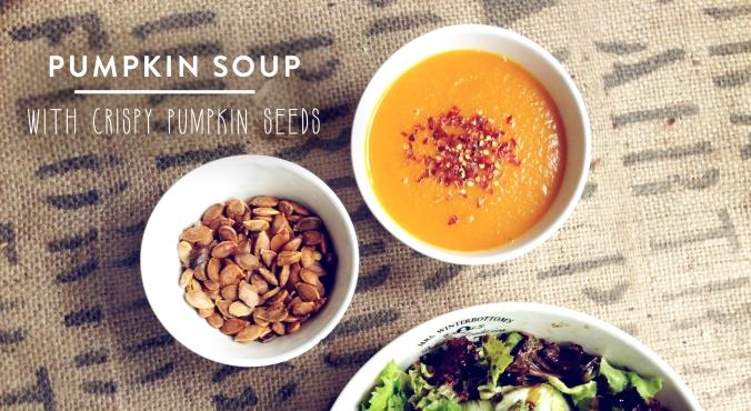 Pumpkin soup with crispy pumpkin seeds | by JuYogi